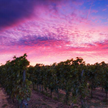 afterglow, sunset, sky, Fujifilm X-T2