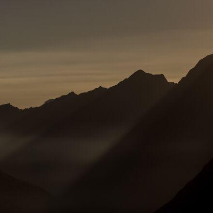 mountains, silhouette, mountain silhouette, Canon EOS 5D MARK III