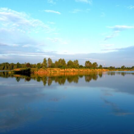 landscape, lake, waters, Fujifilm FinePix S8100fd