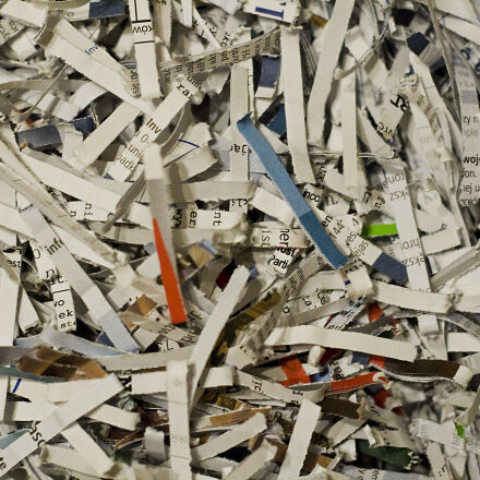 documents, paper, shreds, Canon EOS 400D DIGITAL