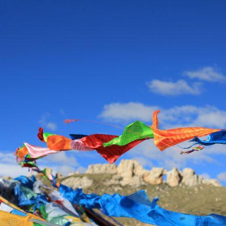tibet, prayer flags, faith, Canon EOS 600D