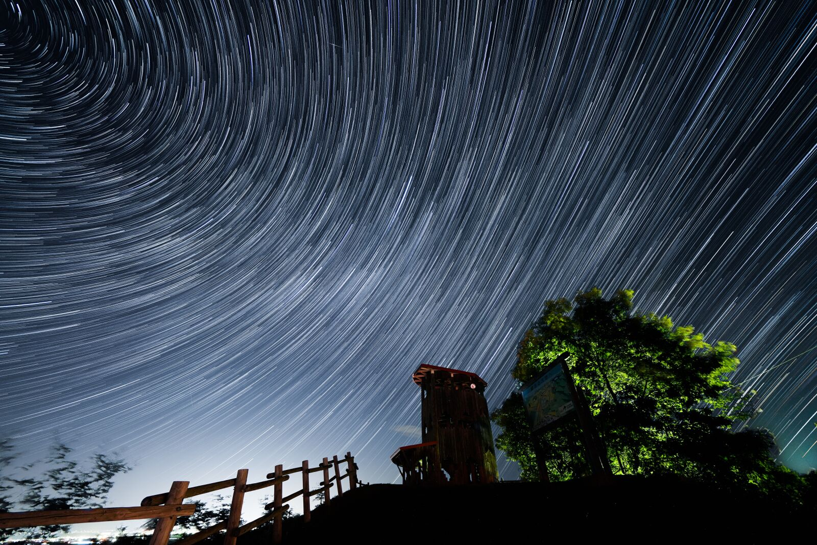 """Sony a7R IV sample photo. """"Star trail, architecture, background"""" photography"""
