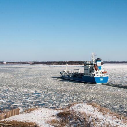 ship, spring, ice, Canon EOS 70D