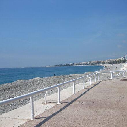 beach, nice, pebble, beach, Canon DIGITAL IXUS 85 IS