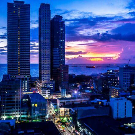 manila, city, manila bay, Sony ILCE-6000