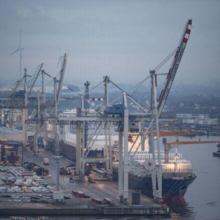 port, hamburg, container, Olympus PEN-F