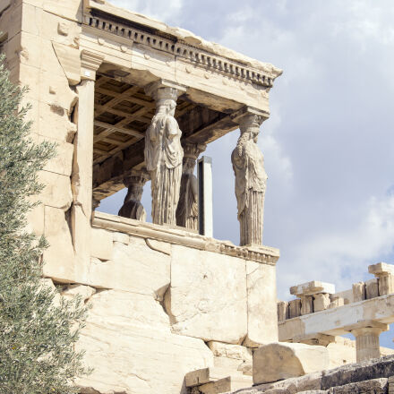 acropolis, antique, athenas, blue, Nikon D3100