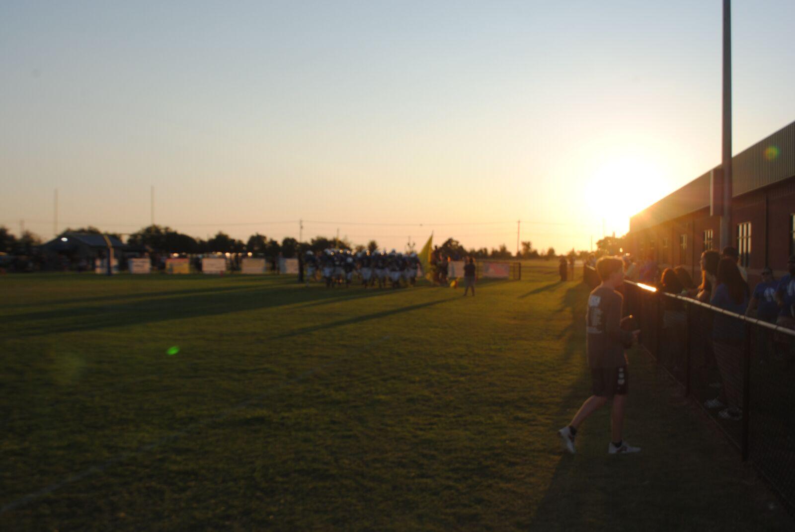"Nikon D3000 sample photo. ""Sunset, football, field"" photography"