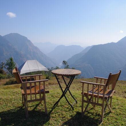 blue, india, mountain, mountains, Pentax K-X