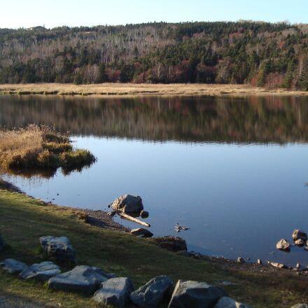 pond, water, reflection, Sony DSC-W120