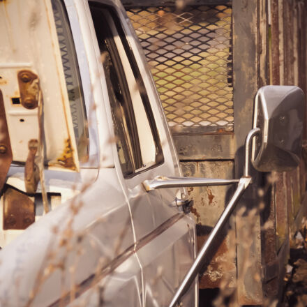 abandoned, fall, outdoors, truck, Canon EOS 7D