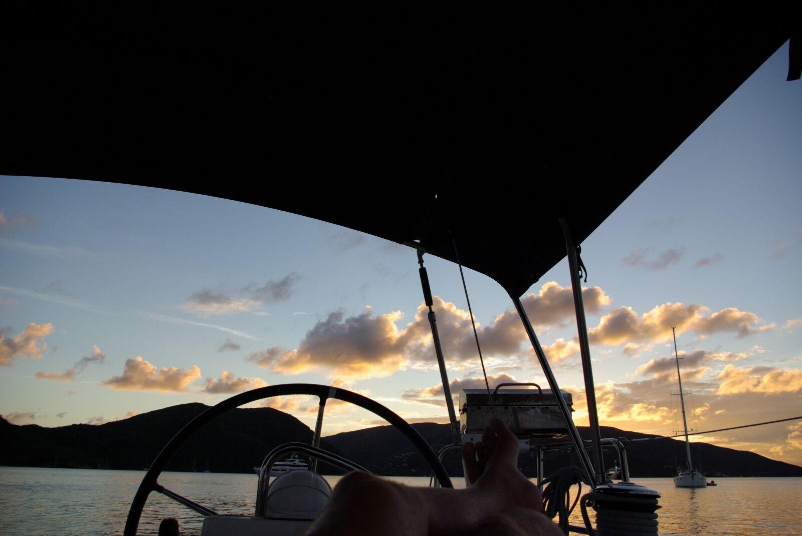 """Pentax K10D sample photo. """"Evening, sun, sail, sunset"""" photography"""