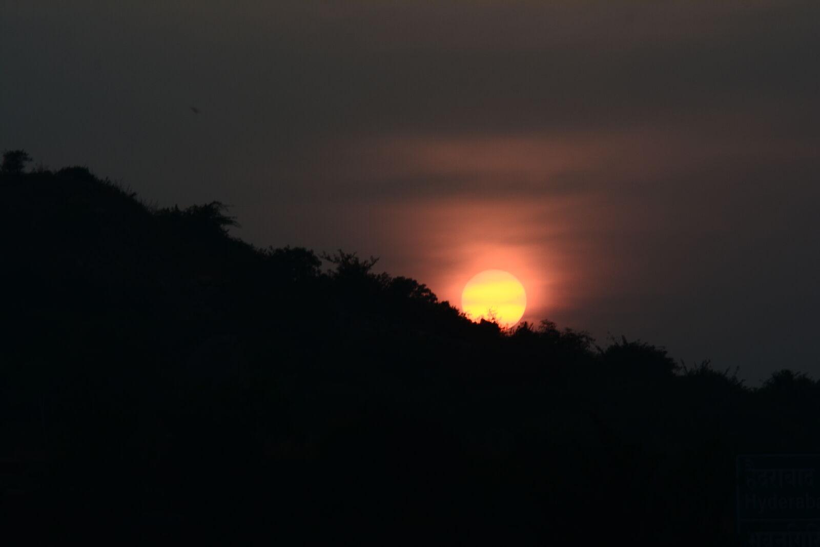 "Nikon D5200 sample photo. ""Golden, yellow, sun, mountains"" photography"