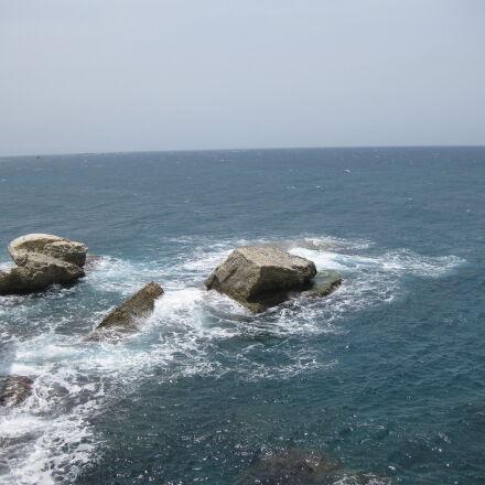 chalk, cliffs, coastline, Israel, Canon DIGITAL IXUS 85 IS