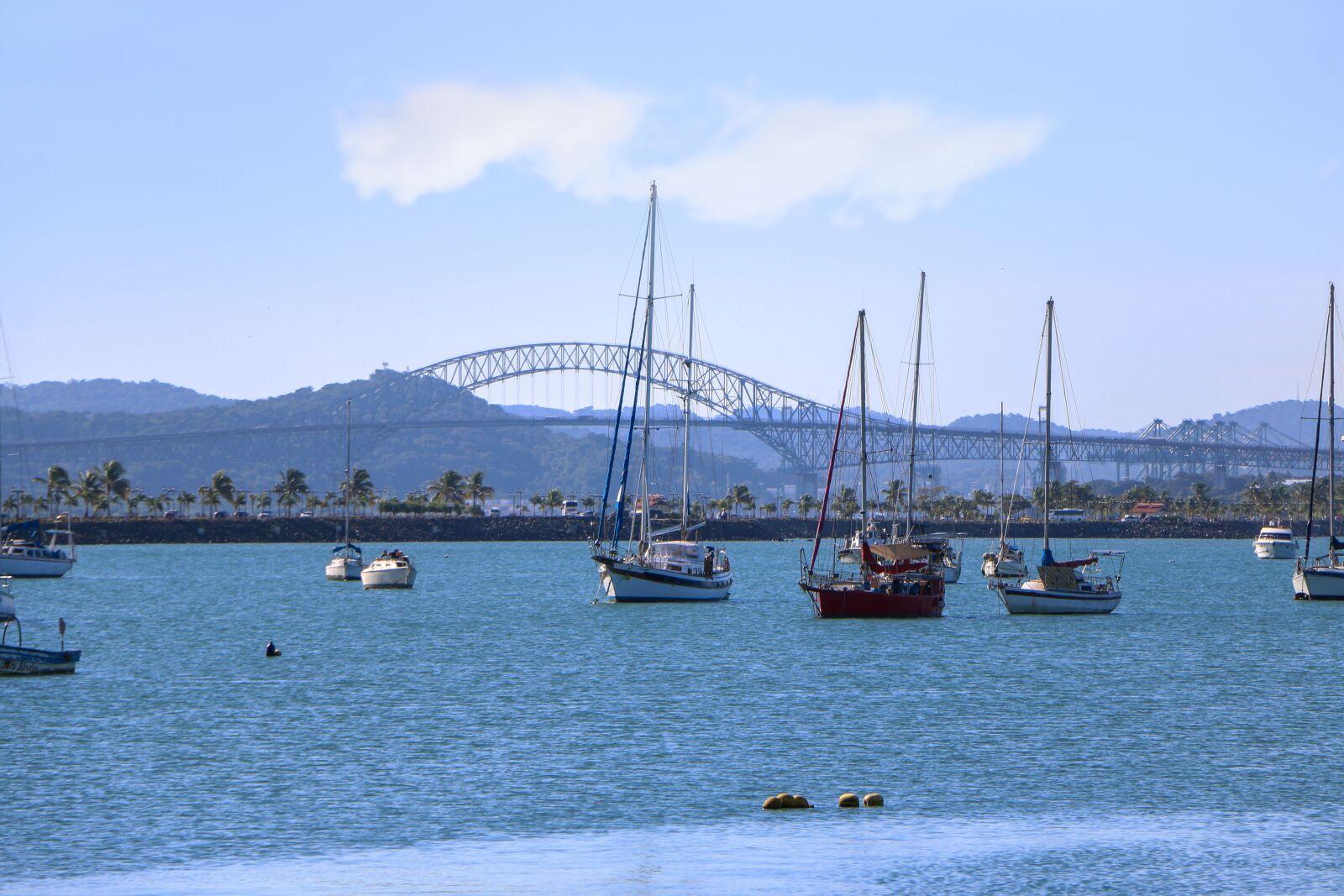 "Canon EOS 70D sample photo. ""Boats, bridge, structure"" photography"