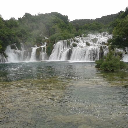 waterfalls, river krka, nacional, Samsung GT-I8552