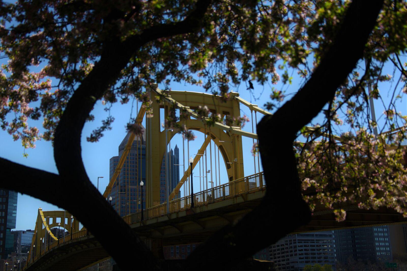 blue, sky, bridge, downtown, Canon EOS 5D MARK II, Canon EF 28-135mm f/3.5-5.6 IS
