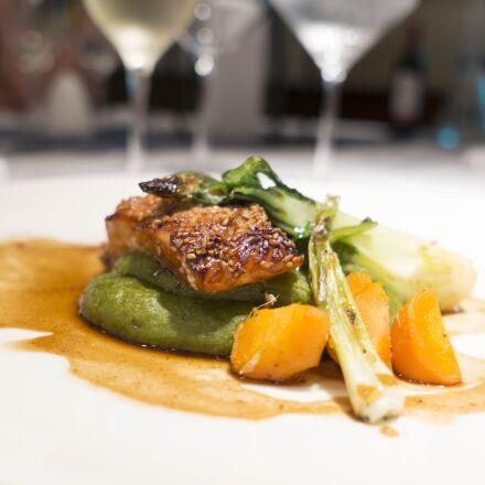 salmon, fish, cuisine, Sony ILCE-6000