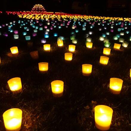 lamps, night, garden, Sony DSC-WX150
