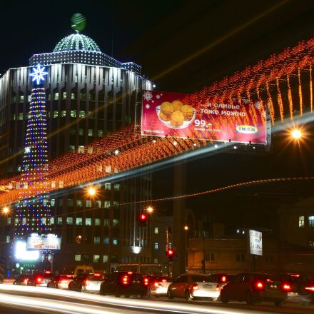 city, novosibirsk, night, Sony SLT-A77V