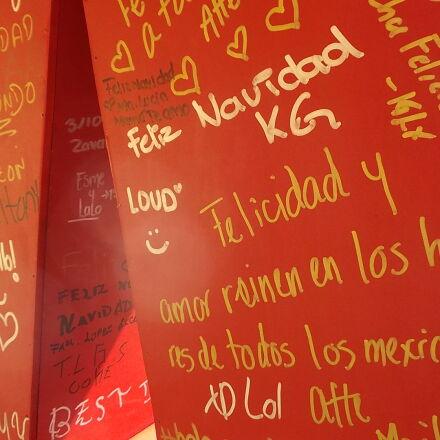letras, muro, navidad, Fujifilm FinePix JX500
