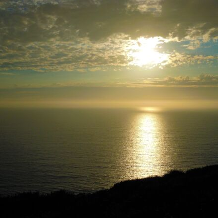 sunset, california, beach, Nikon COOLPIX S5100