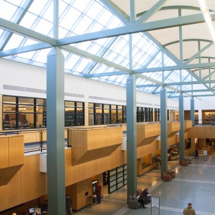 atrium, library, architecture, Canon EOS 5D