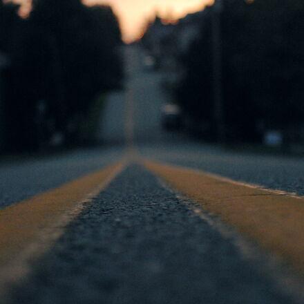 city, street, sunset, town, Nikon D200