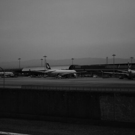 airplane, airport, Canon EOS KISS DIGITAL X