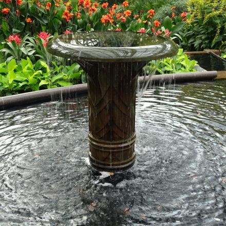 fountain, garden, park, water, Sony DSC-QX30