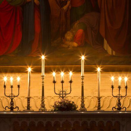 altar, church, candles, Canon EOS 550D