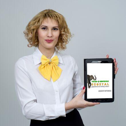 business woman, business, tablet, RICOH PENTAX K-1
