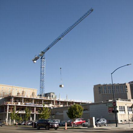 building, city, construction, crane, Nikon D70S