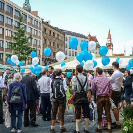balloons, people, crowd, Panasonic DMC-FS4