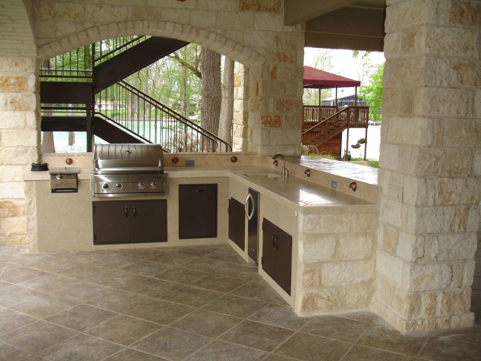 outdoor kitchen, stone, masonry
