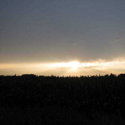 sunset, netherlands, landscape, Canon IXUS 500 HS