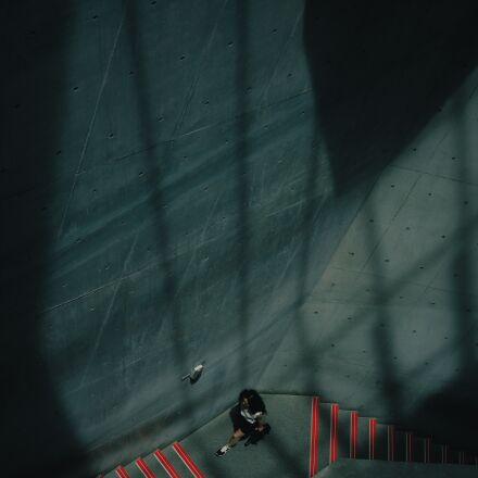 female, person, stairs, Fujifilm X-T10