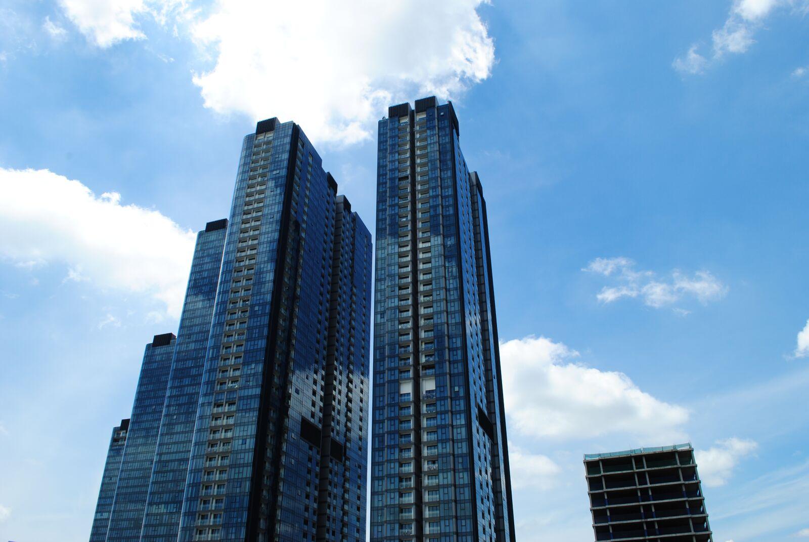 "Nikon D3000 sample photo. ""Architecture, sky, modern"" photography"