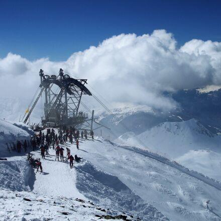 ski holiday, gondola, cable, Sony DSC-W17