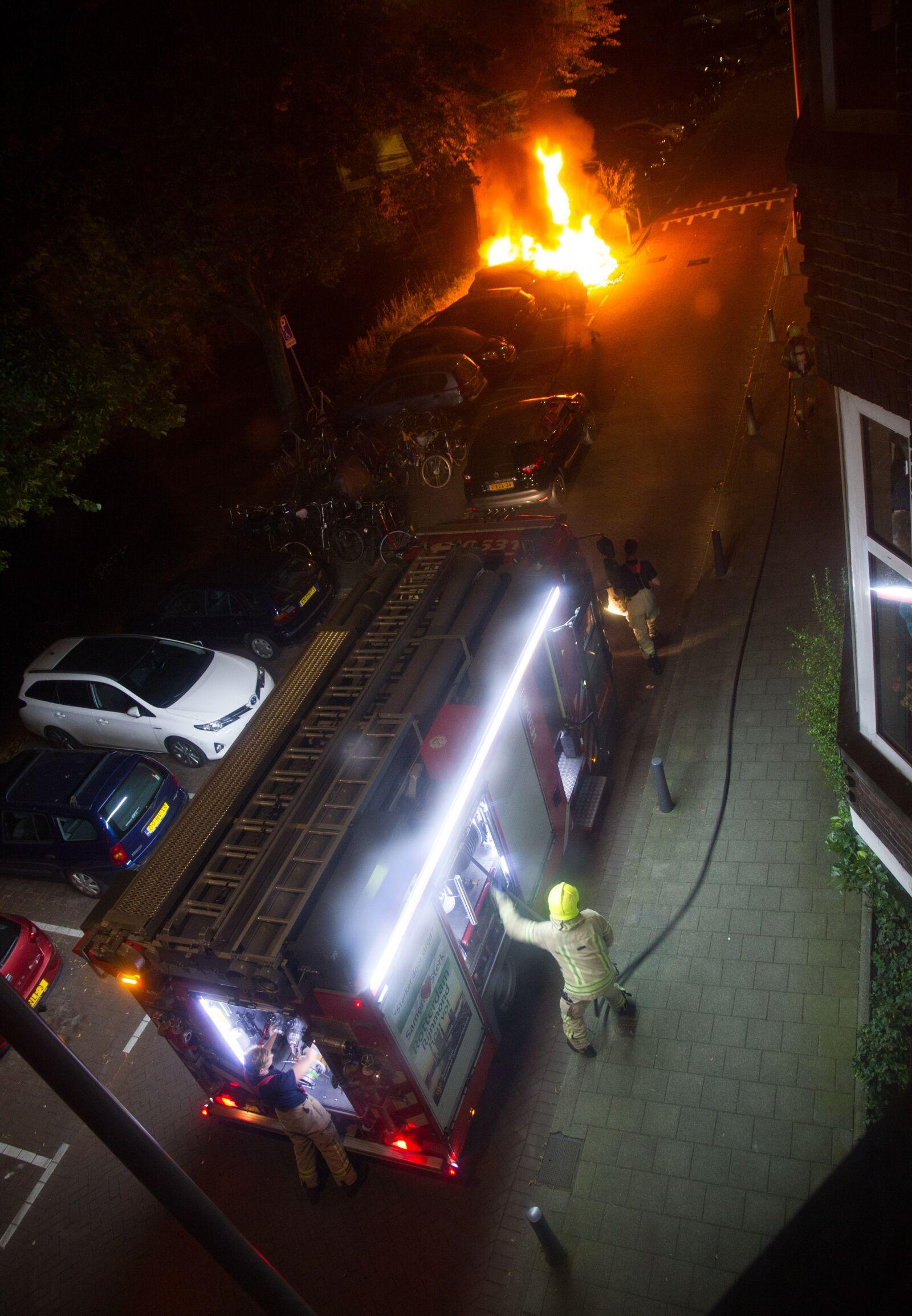 "Canon EOS 7D sample photo. ""Fire, firebrigade, carfire"" photography"