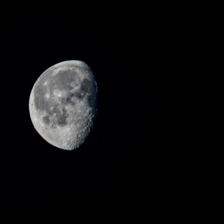 moon, night, Sony ILCA-77M2
