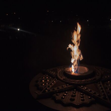 fire, night, burns, Canon EOS 500D