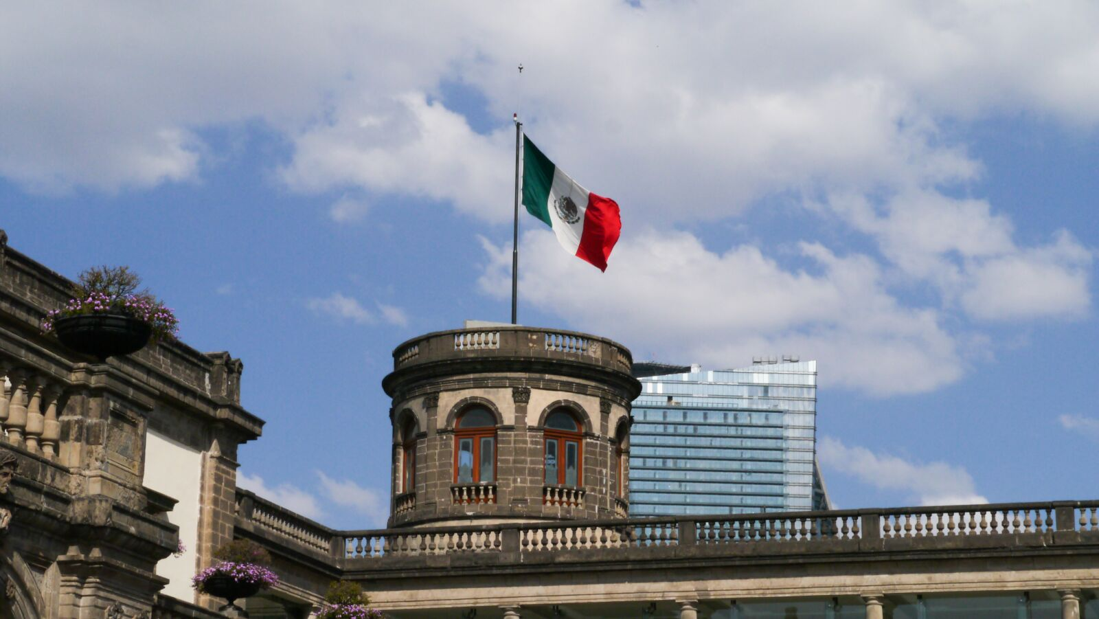 mexican, mexican flag, castle
