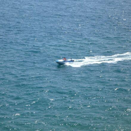 speed boat, blue, water, Panasonic DMC-TS2