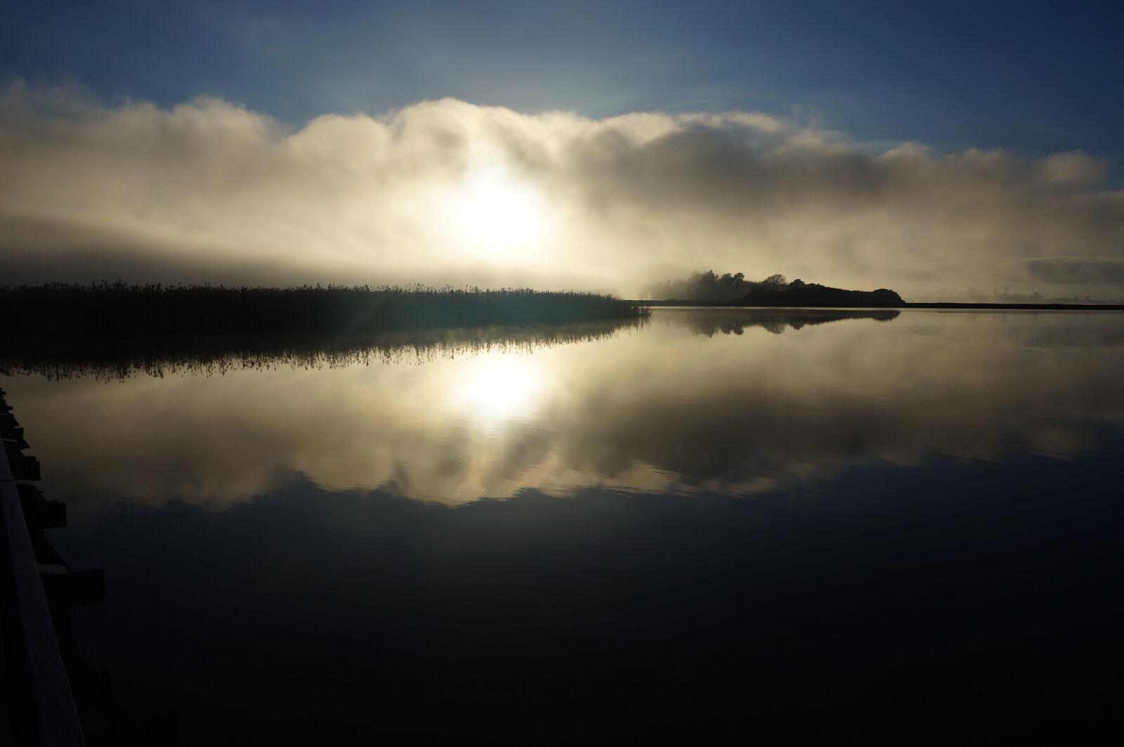 fog, mist, reflections