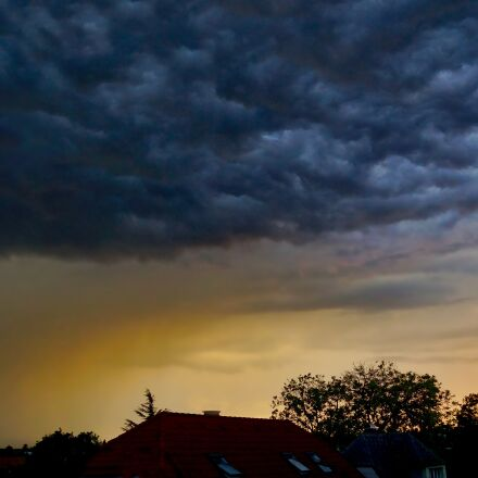 thunderstorm, evening, clouds, Sony ILCE-6000