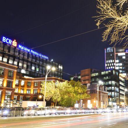 evening, urban traffic, bucharest, Nikon 1 J5
