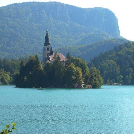 lake, bled, slovenia, Nikon COOLPIX L18