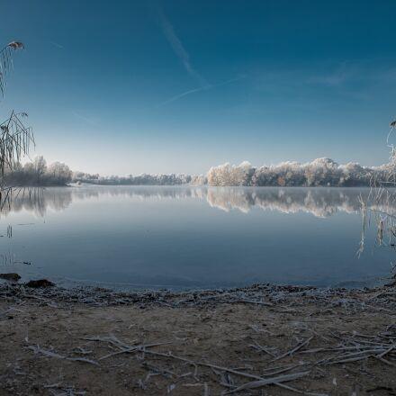 winter, lake, cold, Sony ILCE-7SM2
