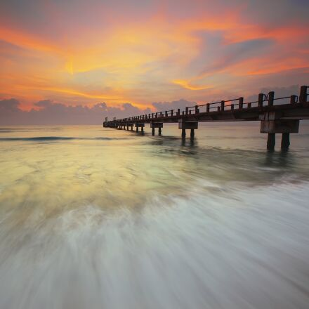 beach, flow, landscape, Canon EOS 5D MARK II